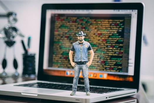 Free stock photo of man, laptop, coding, programming
