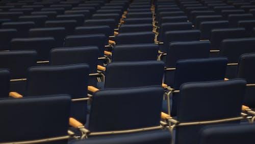 Бесплатное стоковое фото с голубой, зал, линия, мебель