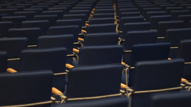 Free stock photo of blue, straight, line, chairs