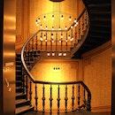 wood, lights, hotel