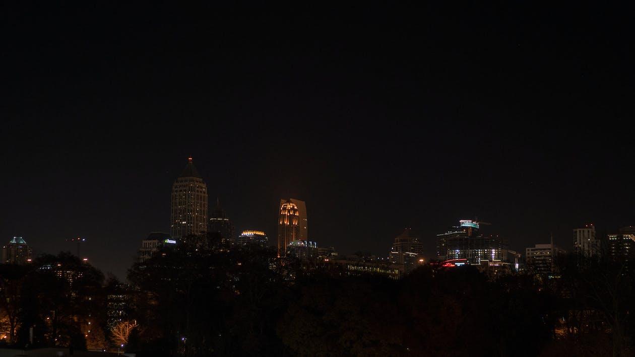 Imagine de stoc gratuită din atlanta, noapte, nocturn