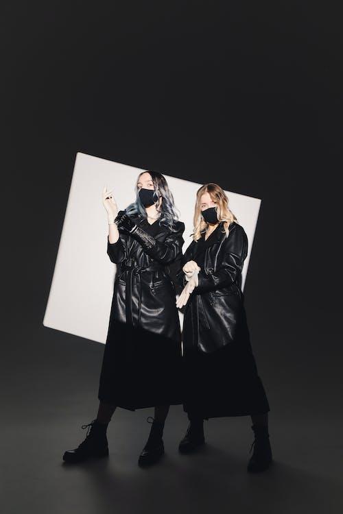 Photo Of Women Wearing Black Facemask