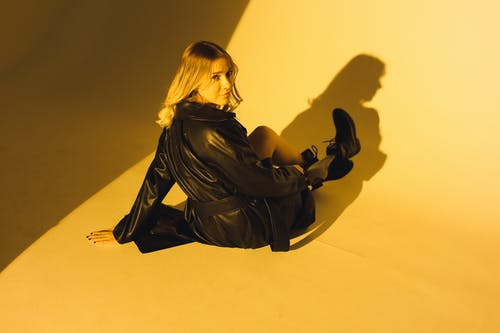 Photo Of Woman Wearing Black Leather Coat