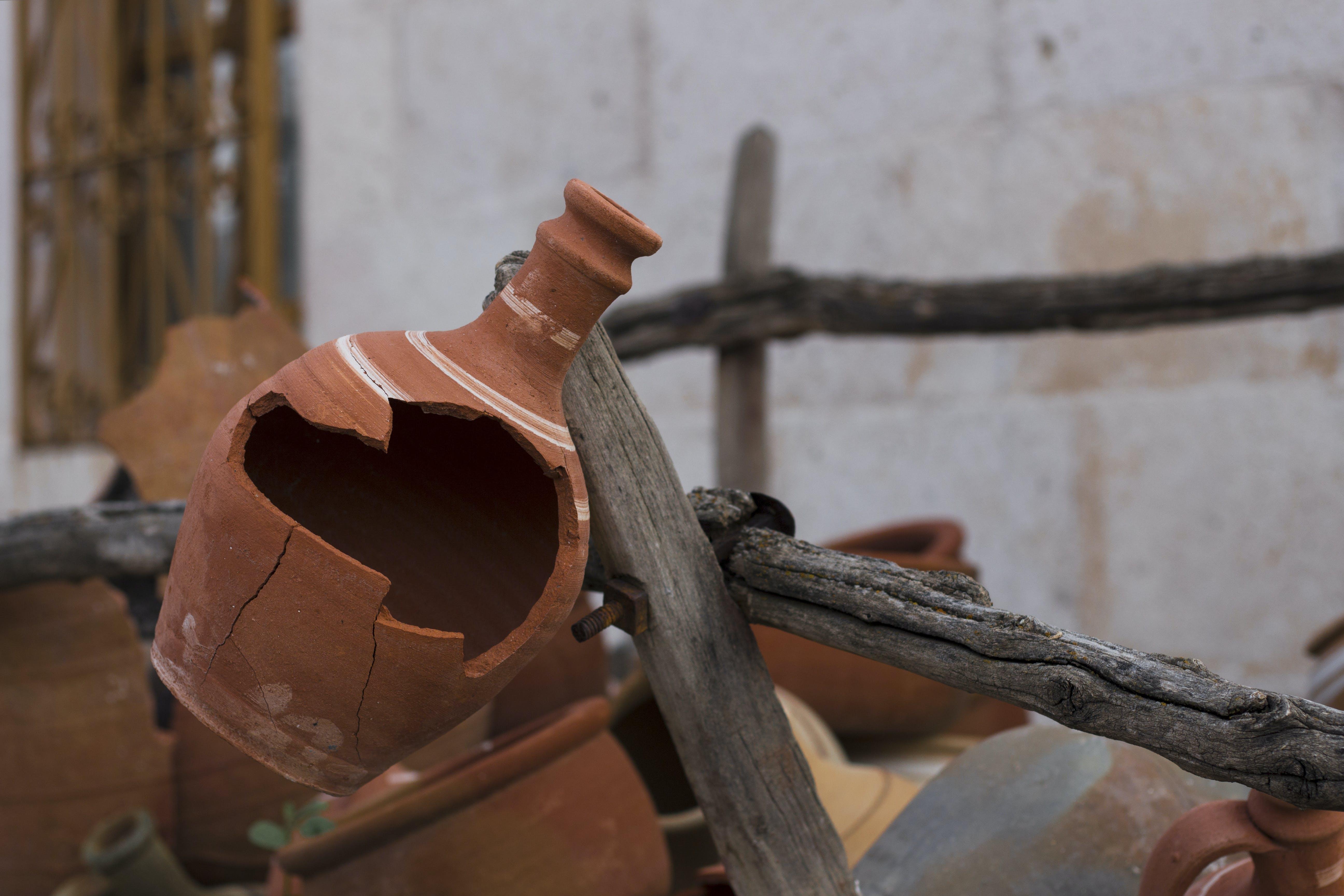 Free stock photo of broken pot, jug, pot, pottery