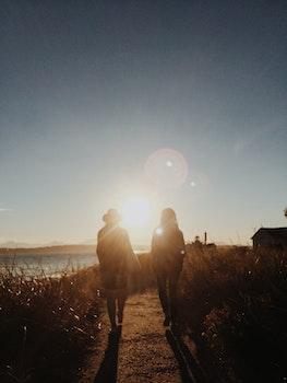 Free stock photo of sunset, people, sunrise, hiking