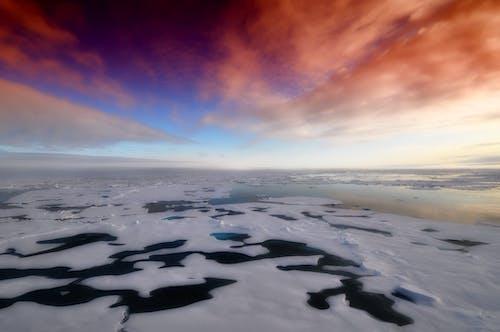 Základová fotografie zdarma na téma led, moře, mraky, obloha