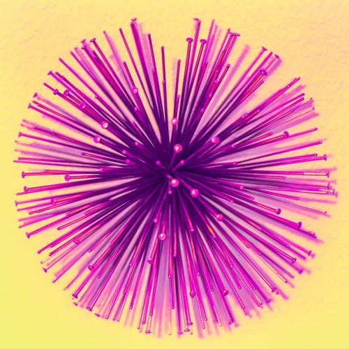 Purple Burst Digital Wallpaper