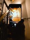 stairs, hand, smartphone
