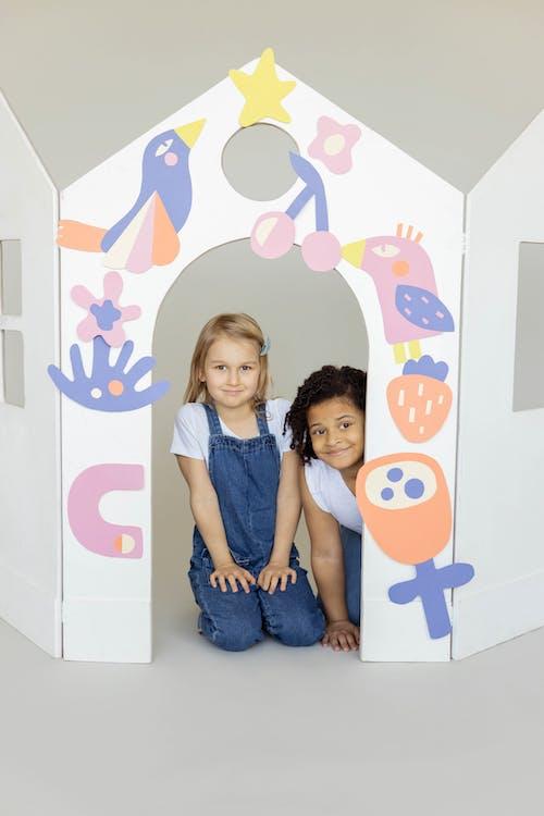 Two Kids Smiling and Having Fun