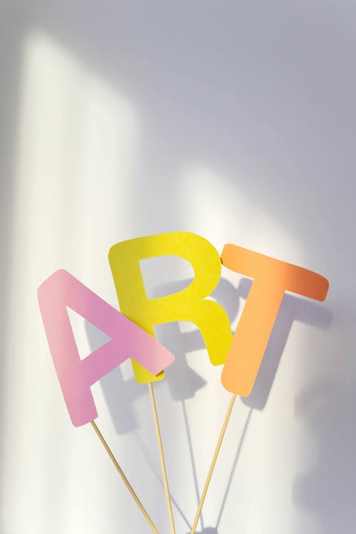 Cutout Letters on a Stick
