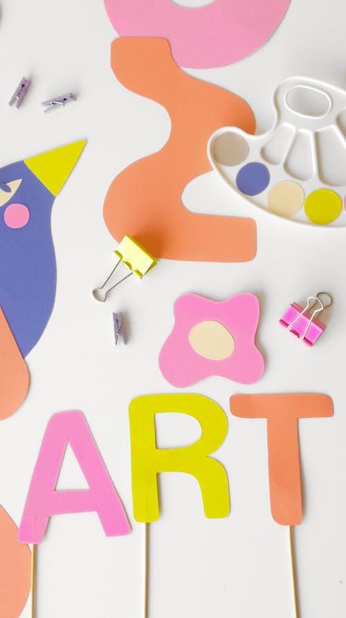 Artworks on White Table