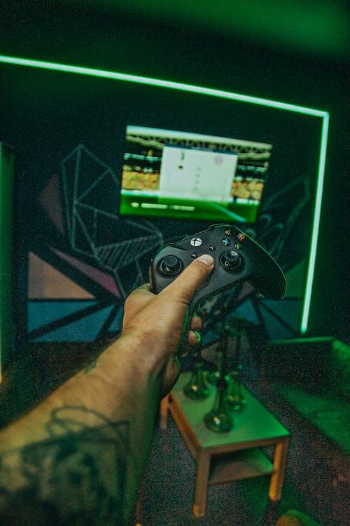 Gratis stockfoto met belicht, controller, game controller