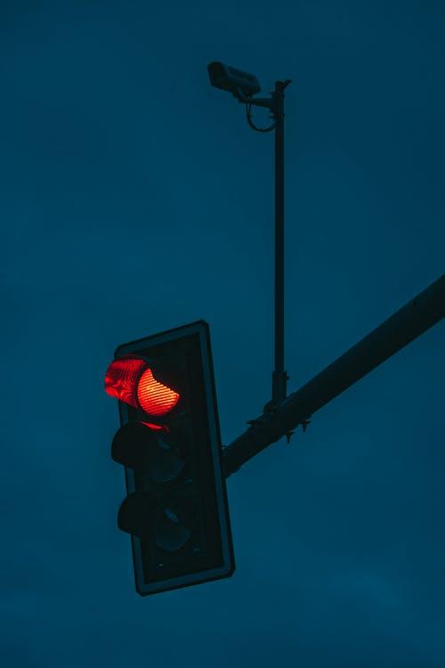 Red Light on Traffic Light