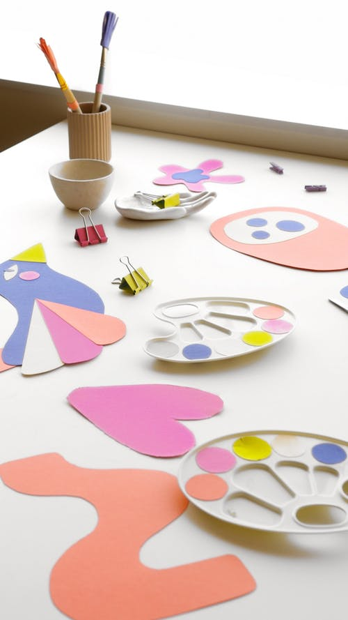 White Blue and Pink Heart Shaped Decor