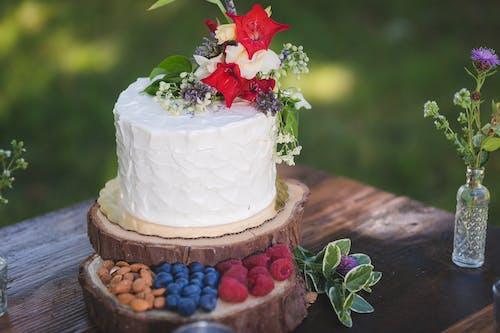 Základová fotografie zdarma na téma borůvky, buttercream, červená, dort