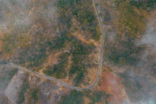 Kostnadsfri bild av dimma, flygperspektiv, landskap