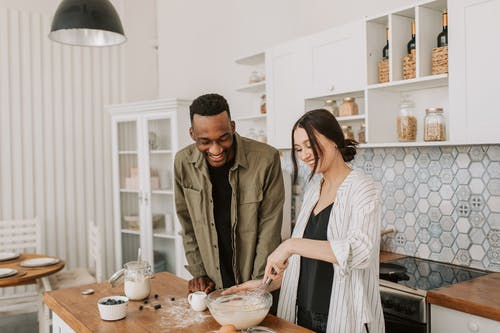 A Couple Making a Pancake Batter