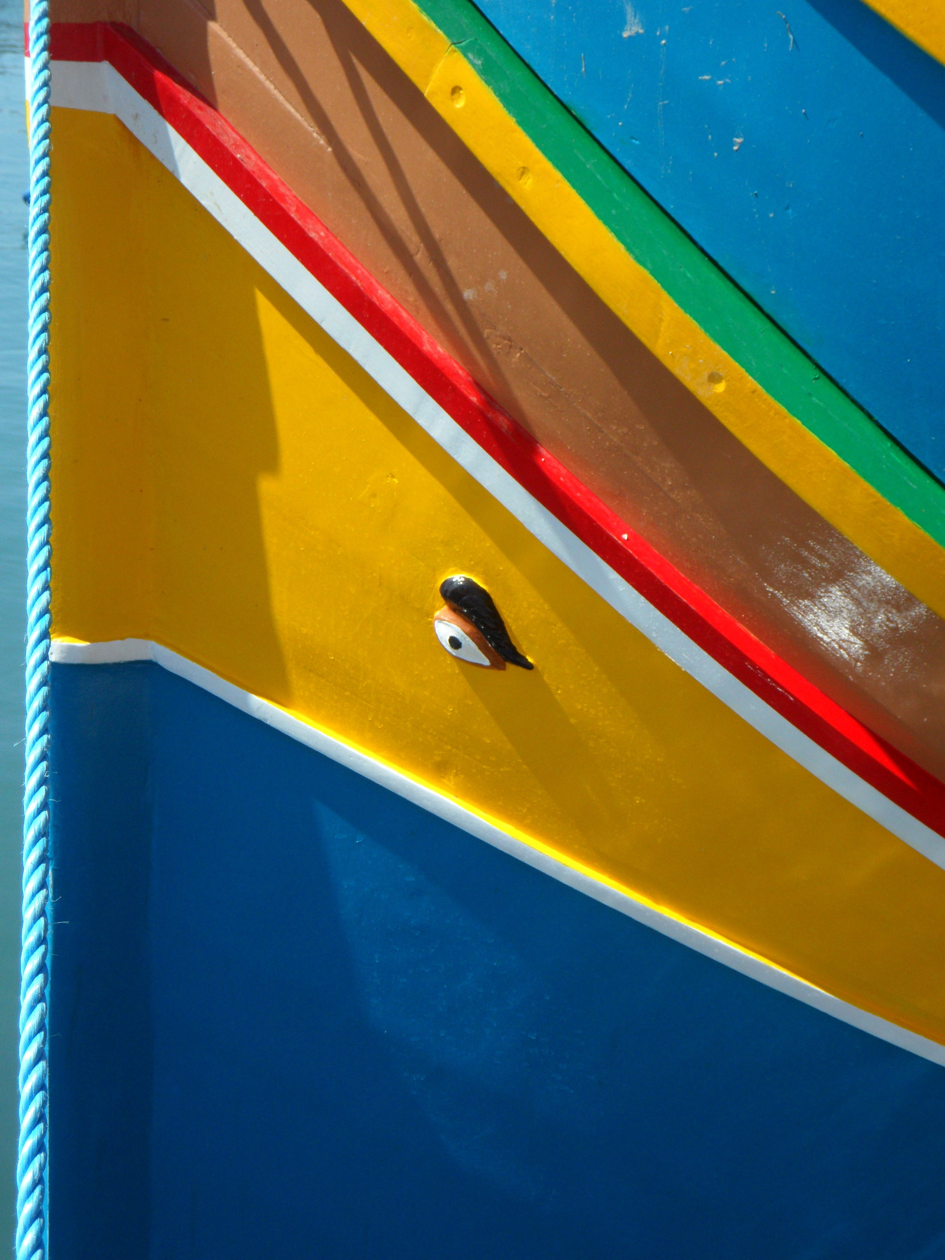 Yellow Red and Blue Surface