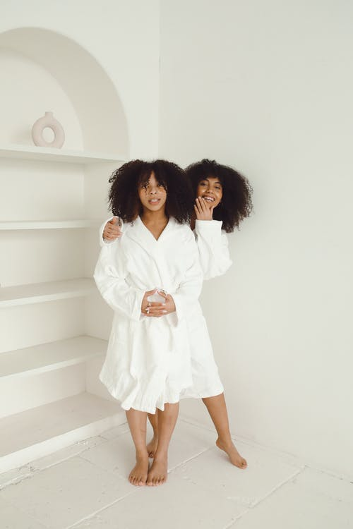 Free stock photo of adult, affection, bathrobe