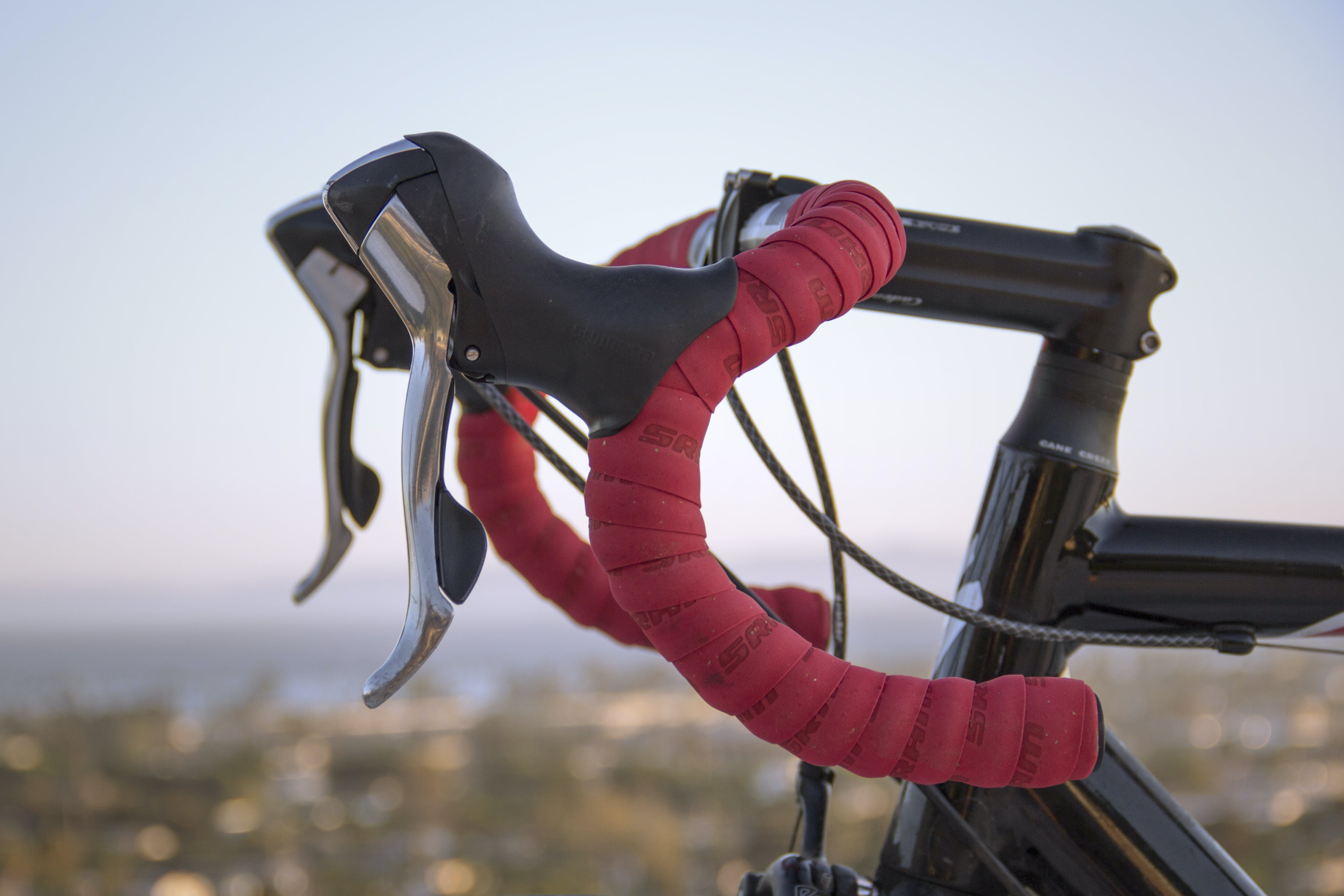 Red and Black Road Bicycle