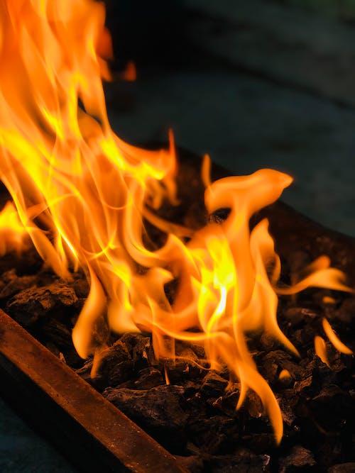 Close-Up Shot of a Fire