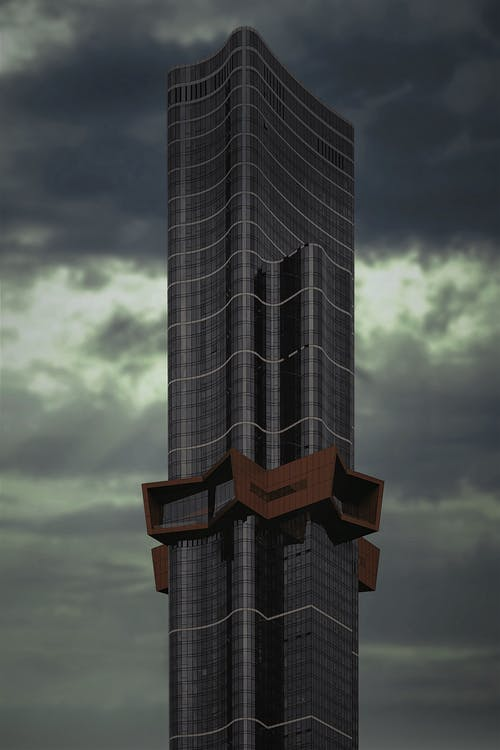 A Tall and Futuristic Modern Building