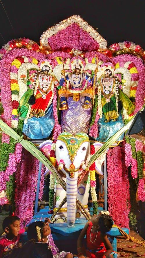 Photos gratuites de dieu, enfants, festival, festival de l'inde du sud