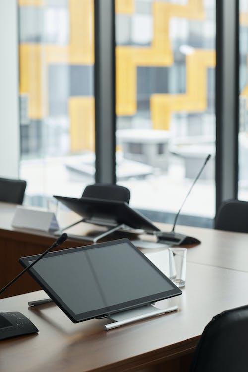 Black Digital Tablet On Table