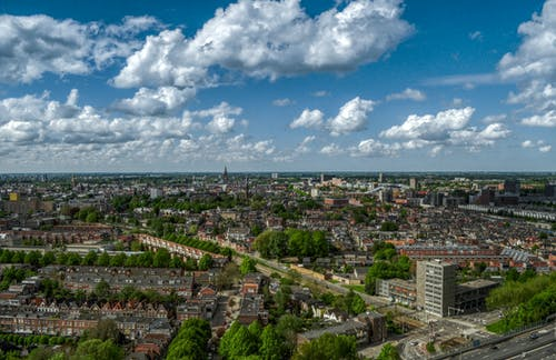 Aerial Photography of City Skyline
