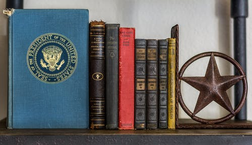 Free stock photo of america, blue, books, red