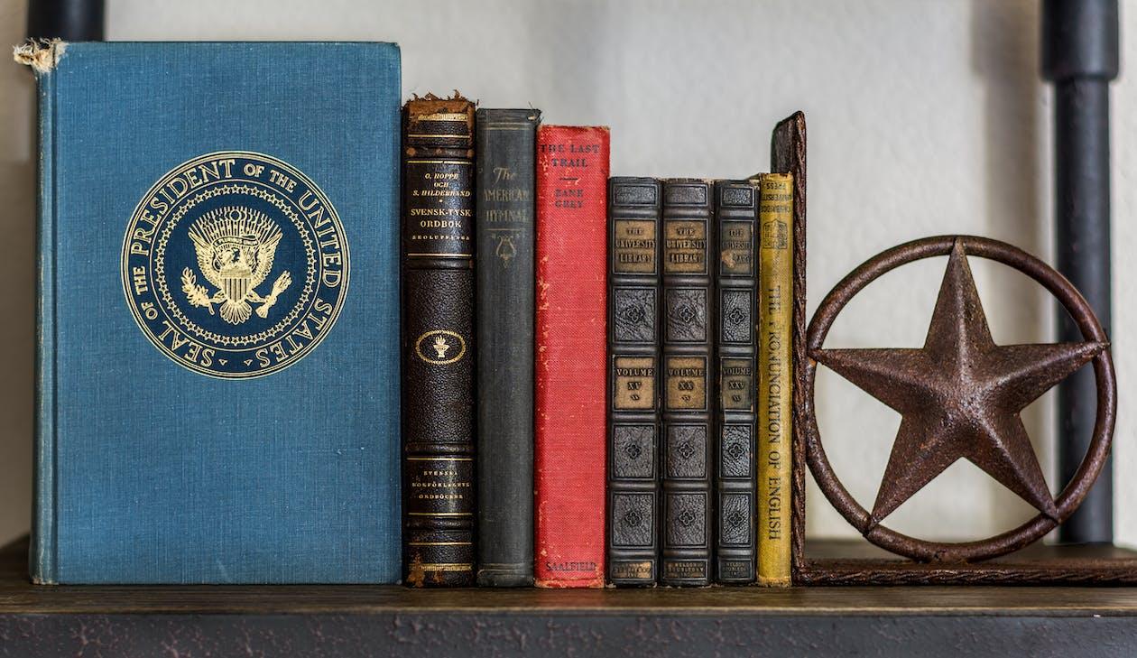 Free stock photo of america, blue, books