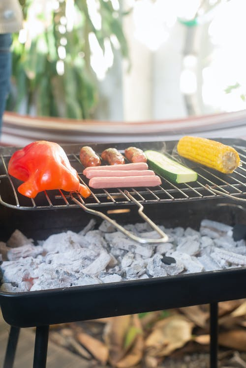 Grilled Meat on Charcoal Grill