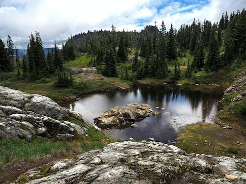 Gratis lagerfoto af alpin, dam, himmel, kampesten