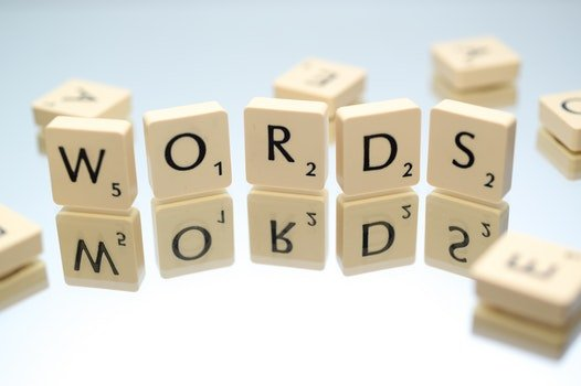 Words Text Scrabble Blocks
