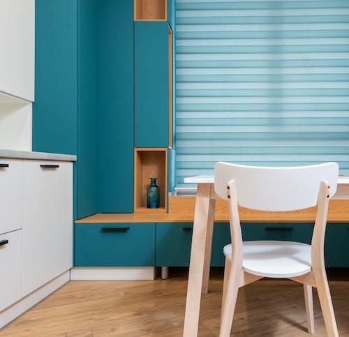 Gratis stockfoto met binnen, binnenshuis, blauwgroen