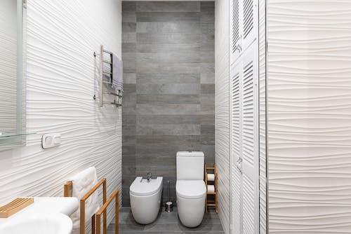 White Ceramic Toilet Bowl Near White Ceramic Toilet Bowl
