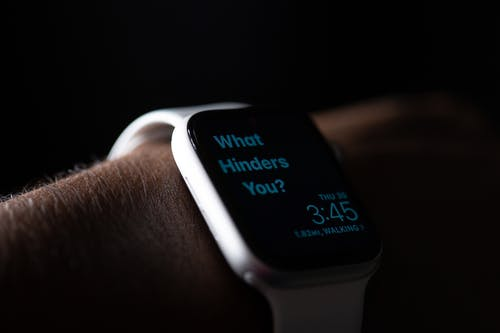 White and Black Smart Watch