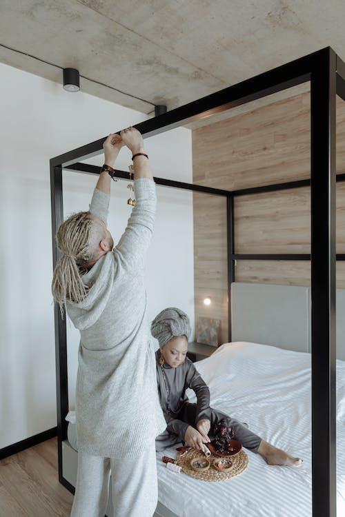 Imagine de stoc gratuită din ajunge la, cuplu, dormitor