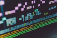 technology, blur, display