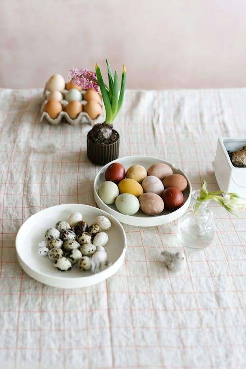 White Round Ceramic Bowl With White Round Fruits