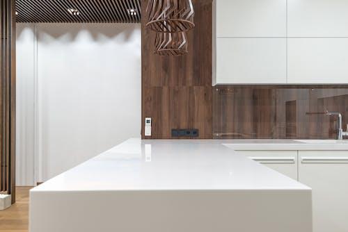 Modern kitchen with white cupboards