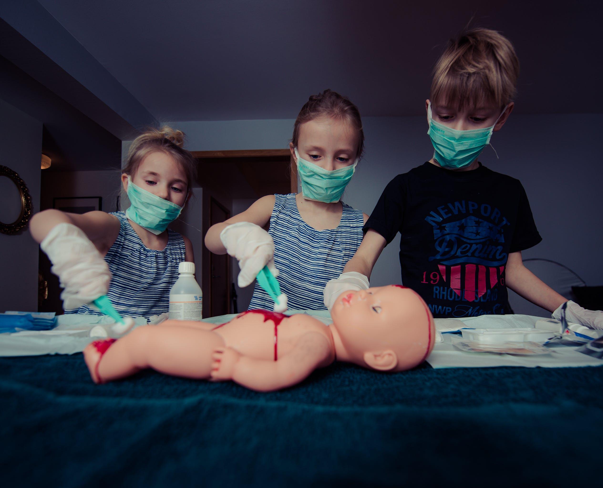 人形, 外科医, 女の子, 子の無料の写真素材