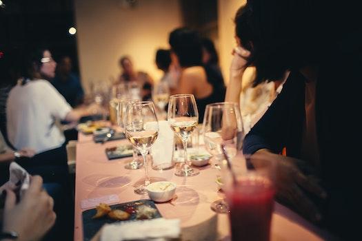 People Having Wine In A Restaurant