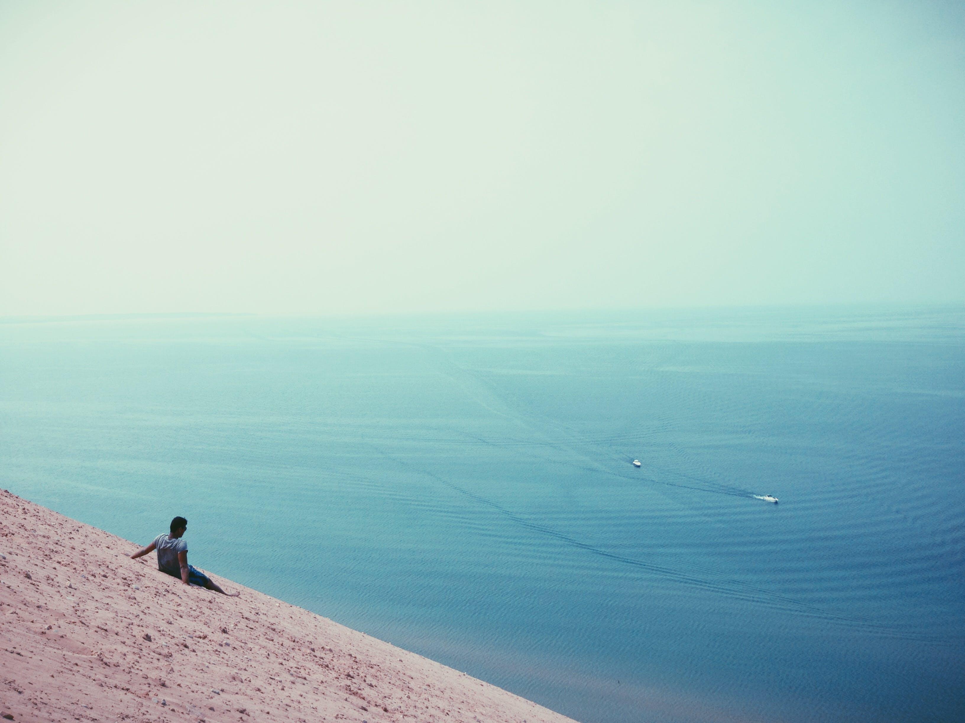 beach, boats, ocean