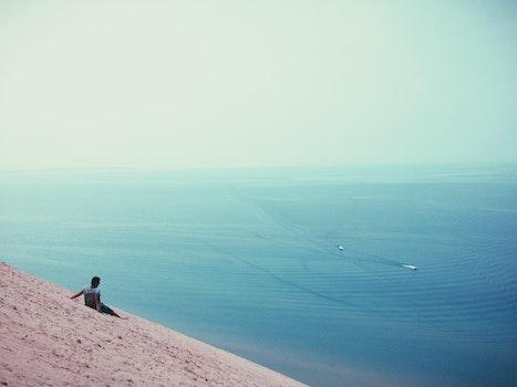 Free stock photo of sky, beach, sand, water