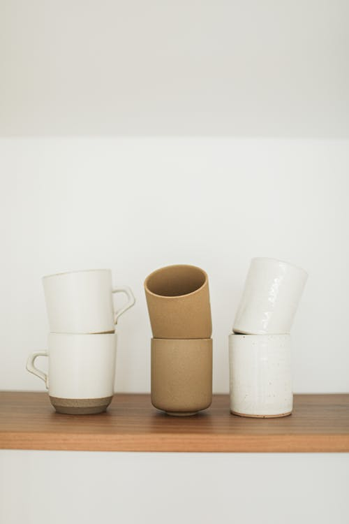 Free stock photo of ceramic cup, ceramic vase, coffee