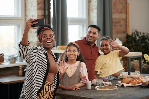 Family Having a Group Selfie