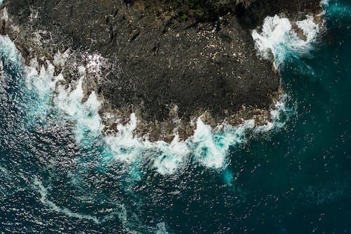 공중 촬영, 드론으로 찍은 사진, 물을 튀기다의 무료 스톡 사진