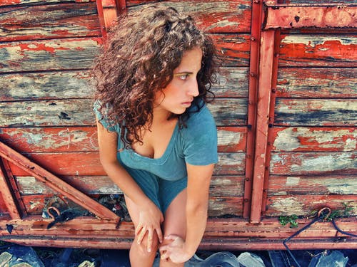 Free stock photo of beautiful, curly hair, girl