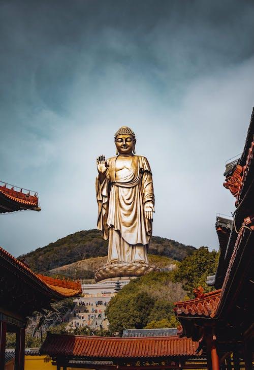 Statue of Grand Buddha on hill Lingshan of Wuzi city